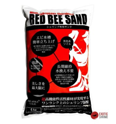 sustrato Red Bee Sand 4kg soil exotic shrimp