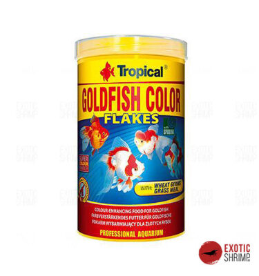 gold fish color tropical alimento para peces exotic shrimp imag destacada