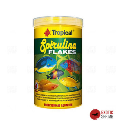 spirulina flakes tropical alimento para peces exotic shrimp imag destacada