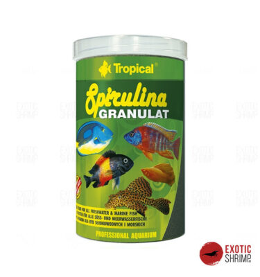 spirulina granulat tropical alimento para peces exotic shrimp imag destacada