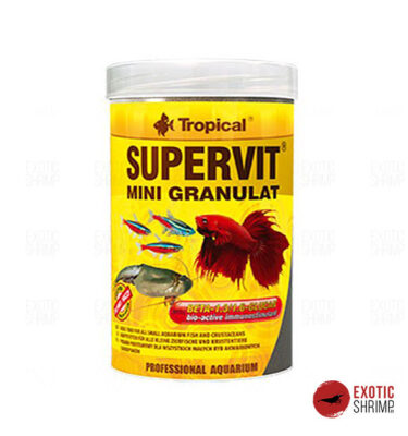 supervirt granualt tropical alimento para peces exotic shrimp imag destacada