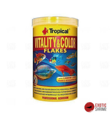 vitalitu colors flakes tropical alimento para peces exotic shrimp imag destacada