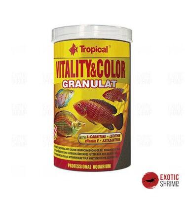 vitalitu colors granulat tropical alimento para peces exotic shrimp imag destacada